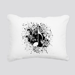 Music Splatter Rectangular Canvas Pillow