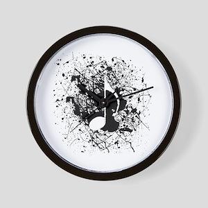 Music Splatter Wall Clock