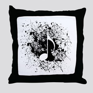 Music Splatter Throw Pillow