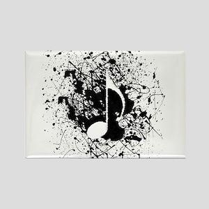 Music Splatter Rectangle Magnet