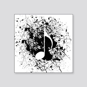 "Music Splatter Square Sticker 3"" x 3"""