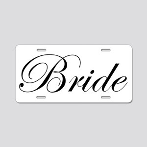 Bride's Aluminum License Plate