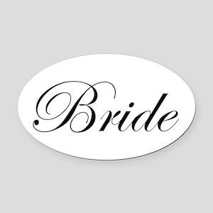 Bride's Oval Car Magnet