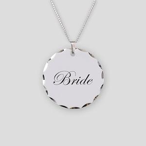 Bride's Necklace Circle Charm