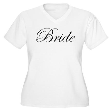 Bride's Women's Plus Size V-Neck T-Shirt