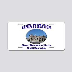 San Bernardino Train Station Aluminum License Plat