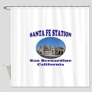 San Bernardino Train Station Shower Curtain