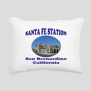 San Bernardino Train Station Rectangular Canvas Pi