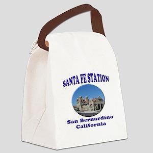 San Bernardino Train Station Canvas Lunch Bag