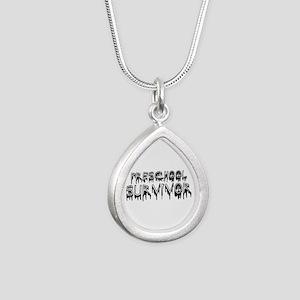 Preschool Graduate 2013 Silver Teardrop Necklace