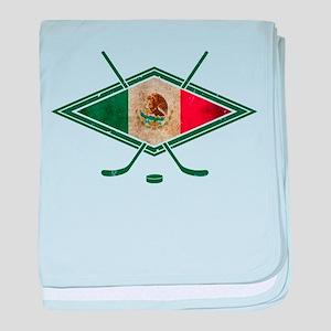 Hockey Sobre Hielo Mexico baby blanket