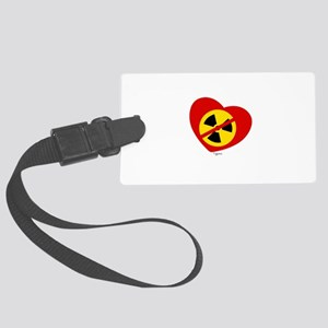 Heart No Nukes (on white) by Tigana Luggage Tag