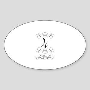 FOUR IN ALL OF KAZAKHSTAN Oval Sticker
