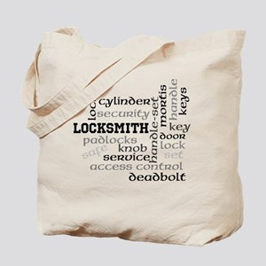 Locksmith wordle Tote Bag