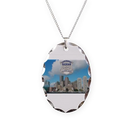 Boston Skyline Police Necklace