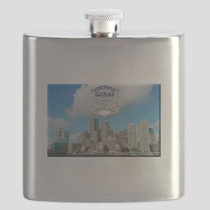 Boston Skyline Police Flask
