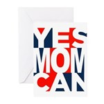 Yes Mom Can (light) Greeting Cards (Pk of 10)