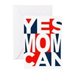 Yes Mom Can (light) Greeting Cards (Pk of 20)
