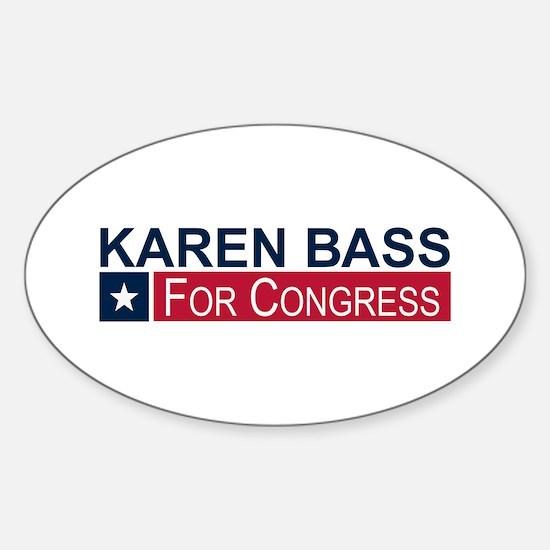 Elect Karen Bass Sticker (Oval)