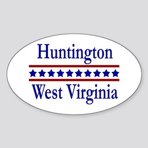 Huntington WV Oval Sticker