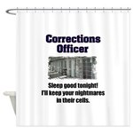Corrections Officer Shower Curtain