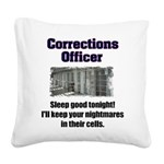 Corrections Officer Square Canvas Pillow
