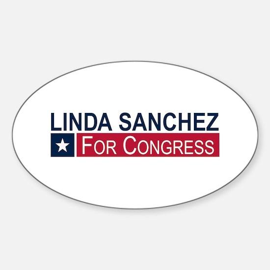 Elect Linda Sanchez Sticker (Oval)