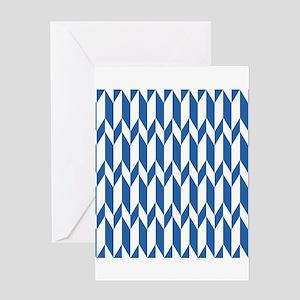 Navy Blue Pattern. Greeting Card