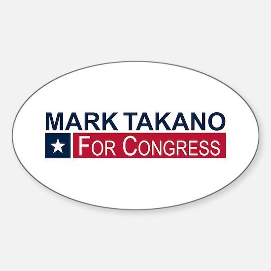 Elect Mark Takano Sticker (Oval)