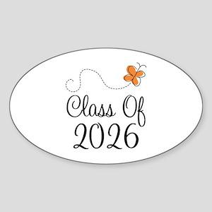 Class of 2026 Butterfly Sticker (Oval)