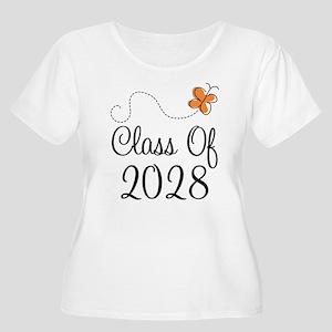 Class of 2028 Butterfly Women's Plus Size Scoop Ne