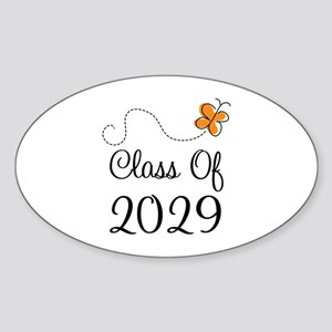 Class of 2029 Butterfly Sticker (Oval)