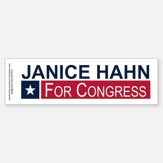Elect Janice Hahn Sticker (Bumper)