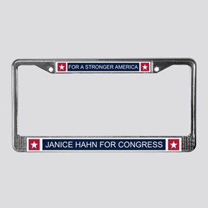 Elect Janice Hahn License Plate Frame