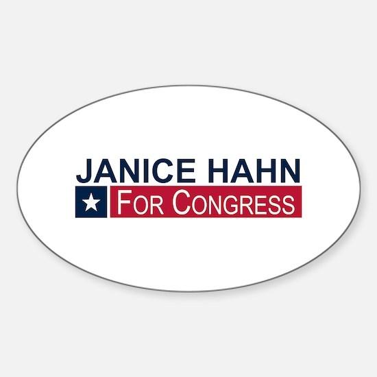 Elect Janice Hahn Sticker (Oval)