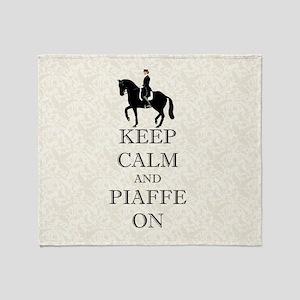 Keep Calm and Piaffe On Dressage Horse Throw Blank
