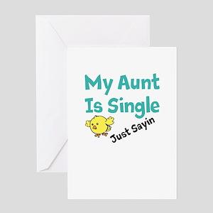 Single Aunt Greeting Card