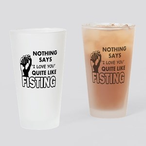 Fisting Drinking Glass