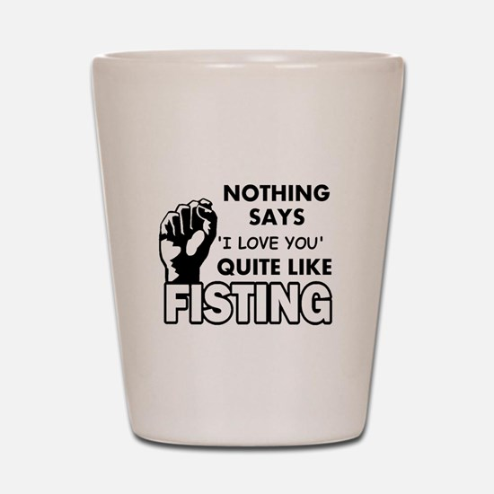Fisting Shot Glass