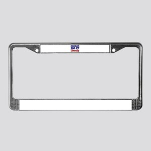 """Democrats Do It Liberally"" License Plate Frame"