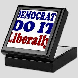 """""""Democrats Do It Liberally"""" Keepsake Box"""