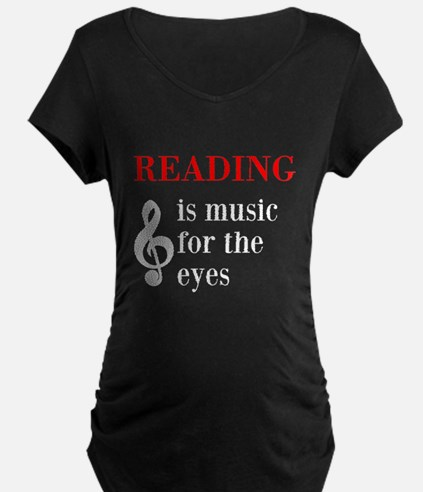 Music For The Eyes Maternity T-Shirt