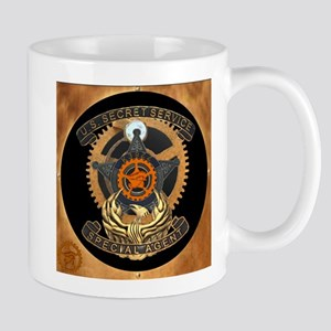 Steampunk Secret Service Badge Mug
