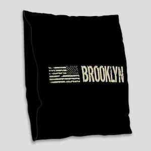 Black Flag: Brooklyn Burlap Throw Pillow
