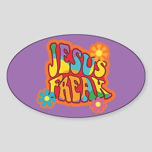 Jesus Freak Oval Sticker
