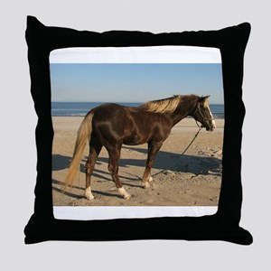 Rocky and Stroll Beach Throw Pillow