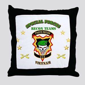 SOF - Recon Tm - Photo Recon - CCS Throw Pillow