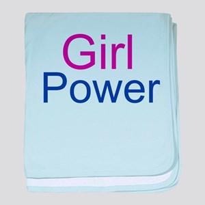 Girl Power baby blanket