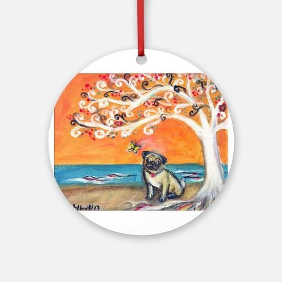 Pug ~the beauty of orange Ornament (Round)