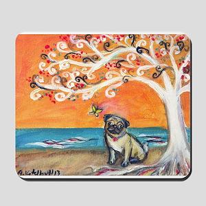 Pug ~the beauty of orange Mousepad